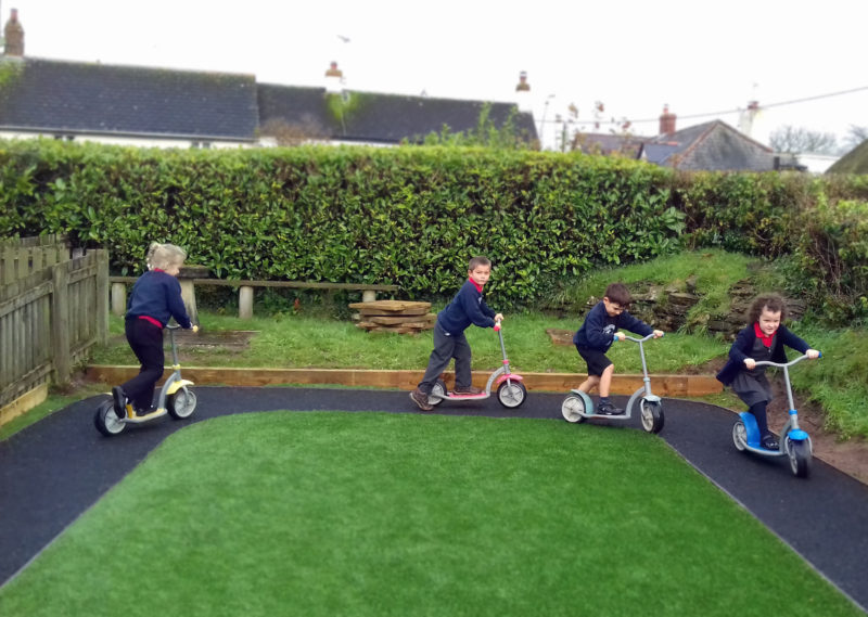 Rackenford Primary new all-weather play area