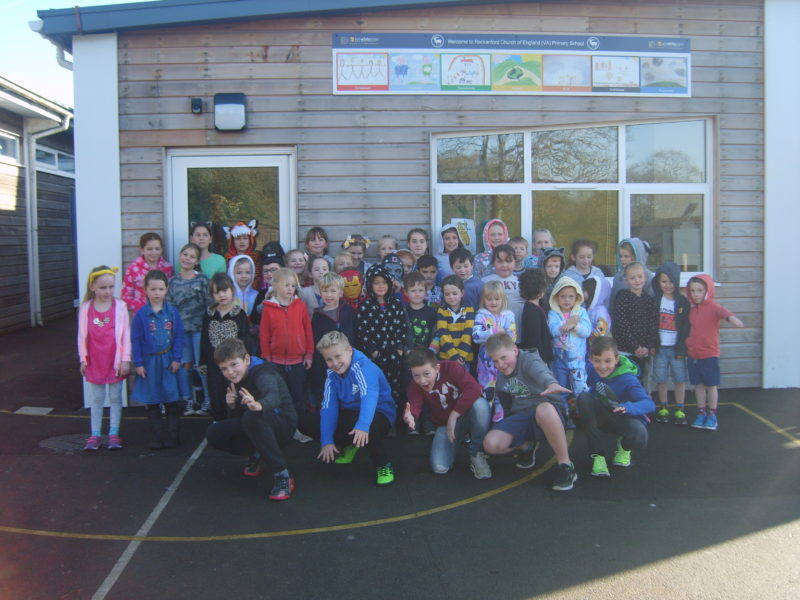Rackenford Children in Need whole school dressed up
