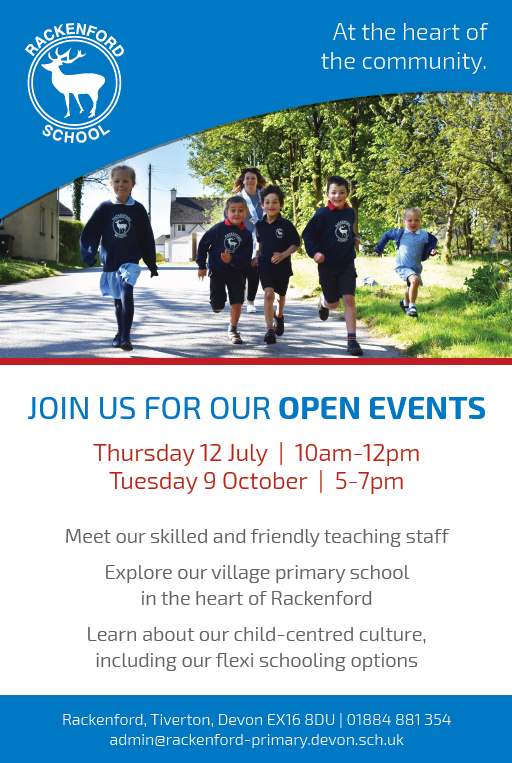 Rackenford Primary open events